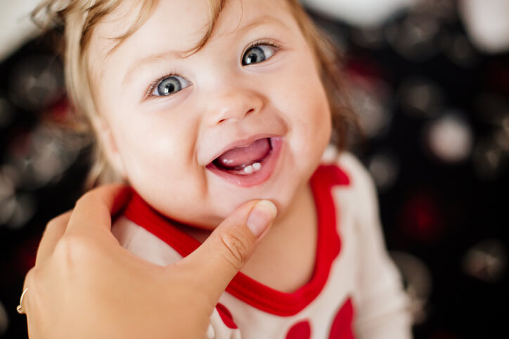 First tooth in a child