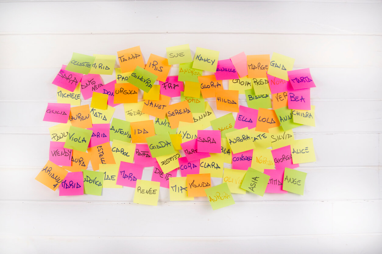 post its showing baby names